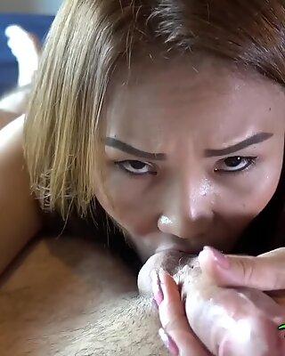Tuk Tuk Patrol - White cock unloads in hot Thai babes pussy