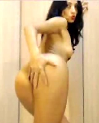 Skinny Latina Hottie Toying Her Trim Pussy And Ass