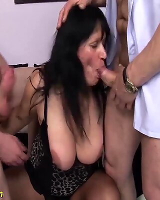 chubby matures first double penetration