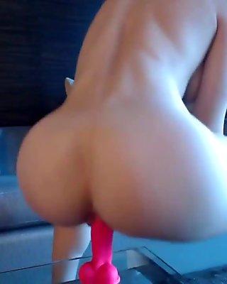 Blonde pink dildo orgasm squirting FreeCamGirls.Club