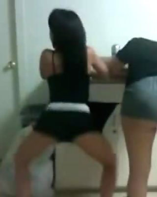 2 Sexy Horny Young Asian Girls Shaking Their Asses - camg8