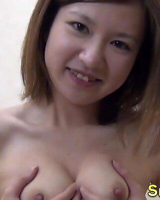 Asian brunette fingers