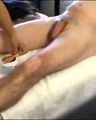 Bondage Bitches Hot Wax Nipples