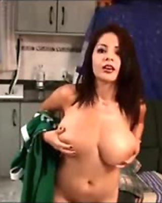 Sexy woman seduces delivery guy while secret camera is open