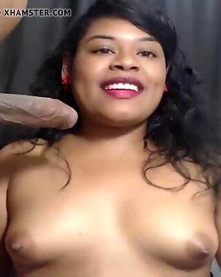 Latina Giving Blowjob