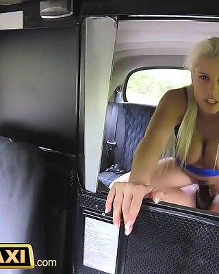 Female Fake Taxi Big black cock creampie