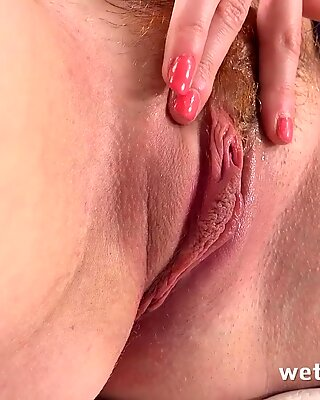 Sex Toys - Extreme pussy play closeup for redhead