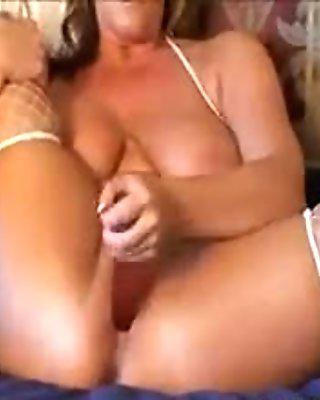 Horny Mother Masturbating